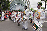 Military parade, Drummers from the Defence Force Independence Day 2010, Port of Spain outside NAPA