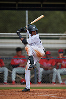 GCL Yankees East Kevin Alcantara (30) bats during a Gulf Coast League game against the GCL Phillies West on July 26, 2019 at the New York Yankees Minor League Complex in Tampa, Florida.  (Mike Janes/Four Seam Images)