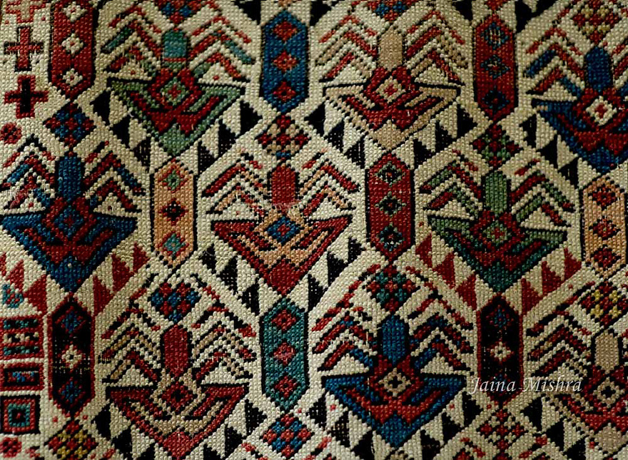 ANTIQUE SHIRVAN PERSIAN RUG