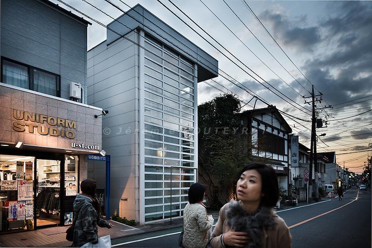 Tokyo, November 2010 - Glass shutter house by Shigeru Ban.