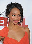"""HOLLYWOOD, CA. - April 12: Zoe Saldana arrives to the """"Death At A Funeral"""" Los Angeles Premiere at Pacific's Cinerama Dome on April 12, 2010 in Hollywood, California."""