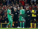 Joel Castro Pereira of Manchester United replaces Sergio Romero of Manchester United during the Carabao Cup Third Round match at the Old Trafford Stadium, Manchester. Picture date 20th September 2017. Picture credit should read: Simon Bellis/Sportimage