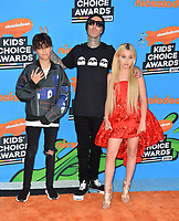 Travis Barker, Landon Barker &amp; Alabama Barker at Nickelodeon's 2018 Kids' Choice Awards at The Forum, Los Angeles, USA 24 March 2018<br /> Picture: Paul Smith/Featureflash/SilverHub 0208 004 5359 sales@silverhubmedia.com