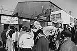Queing to get into the Holgate End, Boro v Stoke 8th April 1995. Photo by Paul Thompson