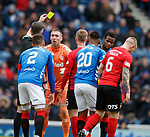 16.03.2019 Rangers v Kilmarnock: Allan McGregor booked