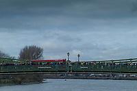 Hammersmith. London. United Kingdom,  Spectators on Hammersmith Bridge, 2018 Men's Head of the River Race.  lChampionship Course, Putney to Mortlake. River Thames, <br /> <br /> Sunday   11/03/2018<br /> <br /> [Mandatory Credit:Peter SPURRIER Intersport Images]<br /> <br /> Leica Camera AG  M9 Digital Camera  1/1500 sec. 50 mm f. 160 ISO.  17.5MB