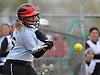 Stephanie Serwan #35, Lindenhurst 1B, strokes a run-scoring double in the bottom of the seventh inning to break a 1-1 tie with Connetquot and propel her team to a 2-1 walkoff win in a Suffolk County varsity softball game at Daniel Street Elementary School on Thursday, May 5, 2016.