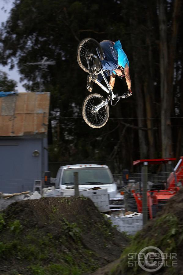 Cam McCaul ..Post Office jumps , Aptos   California  March 2006..pic copyright Steve Behr / Stockfile