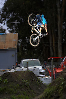 Cam McCaul ..Post Office jumps , Aptos   California  March 2006..pic copyright Steve Behr / Stockfile
