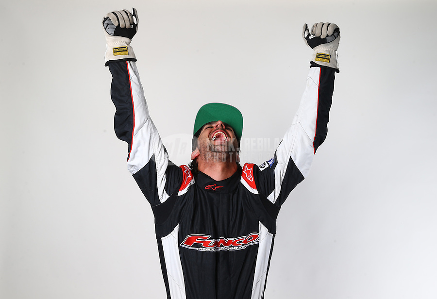 Mar. 21, 2014; Chandler, AZ, USA; LOORRS pro buggy driver Chad George poses for a portrait prior to round one at Wild Horse Motorsports Park. Mandatory Credit: Mark J. Rebilas-USA TODAY Sports