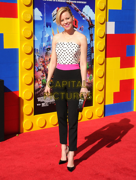 Elizabeth Banks attends The Warner Bros' Pictures L.A. Premiere of The Lego Movie held at The Regency Village in Westwood, California on February 01,2014                                                                                <br /> CAP/DVS<br /> &copy;Debbie VanStory/Capital Pictures