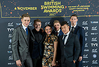 Picture by Allan McKenzie/SWpix.com - 04/11/17 - Swimming - British Swimming Awards 2017 - The Poiint, Lancashire County Cricket Ground, Manchester, England - Red carpet, guests, Oliver Hynd.