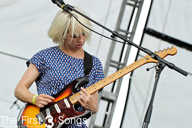 Ritzy Bryan of The Joy Formidable performs during day 1 of the 2011 Kanrocksas Music Festival at Kansas Speedway in Kansas City, Kansas on August 5, 2011.