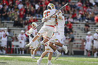 College Park, MD - February 18, 2017: Maryland Terrapins Dylan Maltz (25) celebrates during game between High Point and Maryland at  Capital One Field at Maryland Stadium in College Park, MD.  (Photo by Elliott Brown/Media Images International)