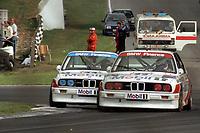 Round 10 of the 1991 British Touring Car Championship. #22 Jonathan Palmer (GB). BMW Team Finance. BMW M3. #44 Steve Soper (GB). BMW Team Finance. BMW M3.