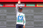 Alejandro Valverde (ESP) Movistar Team retains the Combined Jersey at the end of Stage 8 of the La Vuelta 2018, running 195.1km from Linares to Almaden, Spain. 1st September 2018.<br />