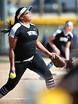 Western Nevada&rsquo;s Kaitlyn Jimmy pitches against College of Southern Nevada at Edmonds Sports Complex in Carson City, Nev., on Friday, April 1, 2016. <br />Photo by Cathleen Allison/Nevada Photo Source