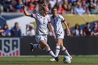 CHICAGO, IL - OCTOBER 06: Becky Sauerbrunn #4 of the United States during a game between the USA and Korea Republic at Soldier Field, on October 06, 2019 in Chicago, IL.