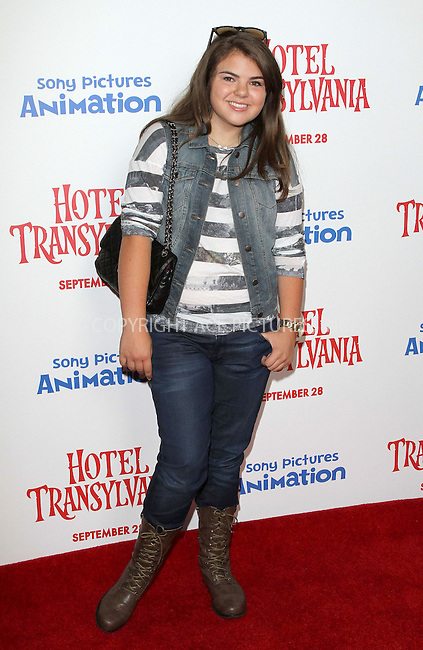 WWW.ACEPIXS.COM....US Sales Only....September 22 2012, LA....Lexi at the premiere of 'Hotel Transylvania' on September 22 2012  in Los Angeles......By Line: Famous/ACE Pictures......ACE Pictures, Inc...tel: 646 769 0430..Email: info@acepixs.com..www.acepixs.com