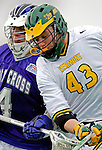 10 April 2007: University of Vermont Catamounts' Max Wilson, a Freshman from Great Falls, VA, in action against the Holy Cross Crusaders at Moulton Winder Field, in Burlington, Vermont. The Crusaders rallied to defeat the Catamounts 5-4...Mandatory Photo Credit: Ed Wolfstein Photo