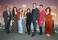 "10 May 2019 - North Hollywood, California - Kevin Pollak, Mikey Madison, Hannah Alligood, Olivia Edward, Pamela Adlon, Diedrich Bader, Melanie McFarland, Rebecca Metz. FYC Red Carpet Event For Season 3 Of FX's ""Better Things"" held at The Saban Media Center. Photo Credit: Faye Sadou/AdMedia"