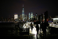 EXCHANGE PLACE, NJ - JANUARY 29: People commute New York - New Jersey as the One World trade Center is seen at the background on January 29, 2019 in Exchange Place, New Jersey. Government officials urged New York to prepare for snow and cold temperatures on the state. the National Weather Service has issued flooding and winter weather warnings and advisories for different areas of the state. (Photo by Eduardo MunozAlvarez/VIEWpress)