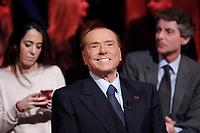 Silvio Berlusconi <br /> Roma 12/01/2018. Trasmissione tv Rai 'Kronos'.<br /> Rome January 12th 2018. Silvio Berlusconi appears as a guest on the talk show 'Kronos' in Rome<br /> Foto Samantha Zucchi Insidefoto