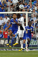 Stephane Auvray #8, Sainey Nyassi...Kansas City Wizards defeated New England Revolution 4-1 at Community America Ballpark, Kansas City, Kansas.