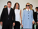 "November 2, 2017, Narita, Japan - Ivanka Trump (R), a daughter and senior adviser of the U.S. President Donald Trump is greeted by U.S. Ambassador to Japan William Hagerty (L) and his wife Chrissy (C) upon her arrival at the Narita International Airport in Narita, suburban Tokyo on Thursday, November 2, 2017. Ivanka Trump is now in Japan to attend a women's empowerment conference ""World Assembly for Women"".    (Photo by Yoshio Tsunoda/AFLO) LWX -ytd-"