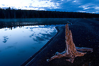 Twilight morning arrives over Yellowstone Lake in Yellowstone National Park, Tuesday, May 31, 2005. (Kevin Moloney for the New York Times)