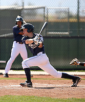Rocky Gale #55 of the San Diego Padres plays in minor league spring training game against the Texas Rangers at the Rangers minor league complex on March 26, 2011  in Surprise, Arizona. .Photo by:  Bill Mitchell/Four Seam Images.