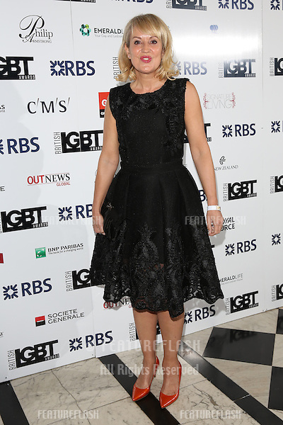 Nicki Chapman at The British LGBT Awards at the Grand Connaught Rooms, London.<br /> May 13, 2016  London, UK<br /> Picture: James Smith / Featureflash