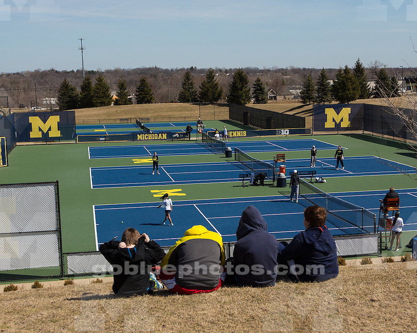 The University of Michigan women's tennis team beat No. 17 Purdue, 6-1, at the Varsity Tennis Center in Ann Arbor, Mich., on March 30, 2013.