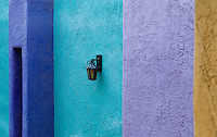 wall lamp in colorful La Placitas Village.