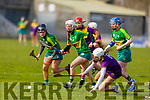 Kerry's Patrice Diggins races ahead of Sarah O'Connor of Wexford to gain possession in the National Camogie league Division 2 game, in Austin Stack Park on Sunday