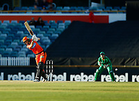 2nd November 2019; Western Australia Cricket Association Ground, Perth, Western Australia, Australia; Womens Big Bash League Cricket, Perth Scorchers versus Melbourne Stars; Amy Jones of the Perth Scorchers plays to the leg side - Editorial Use