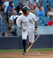 May 22, 2010: Catcher Mitch Abeita of the Tampa Yankees during a game at George M Steinbrenner Field in Tampa, FL. Tampa is the Florida State League High Class-A affiliate of the New York Yankees. Photo By Mark LoMoglio/Four Seam Images