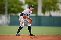 Edgewood Eagles shortstop Max Orput (16) during the second game of a double header against the Bethel Wildcats on March 15, 2019 at Terry Park in Fort Myers, Florida.  Bethel defeated Edgewood 3-2.  (Mike Janes/Four Seam Images)