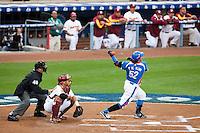 21 March 2009: #52 Tae Kyun Kim of Korea hits the ball during the 2009 World Baseball Classic semifinal game at Dodger Stadium in Los Angeles, California, USA. Korea wins 10-2 over Venezuela.