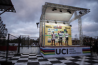 Podium:<br /> <br /> 1st place: Mathieu Van Der Poel (NED/Beobank Corendon)<br /> 2nd place: Laurens Sweeck (BEL/Era Circus)<br /> 3th place: Wout Van Aert (BEL/Crelan Charles)<br /> <br /> Elite Men's Race<br /> UCI CX World Cup Zolder / Belgium 2017