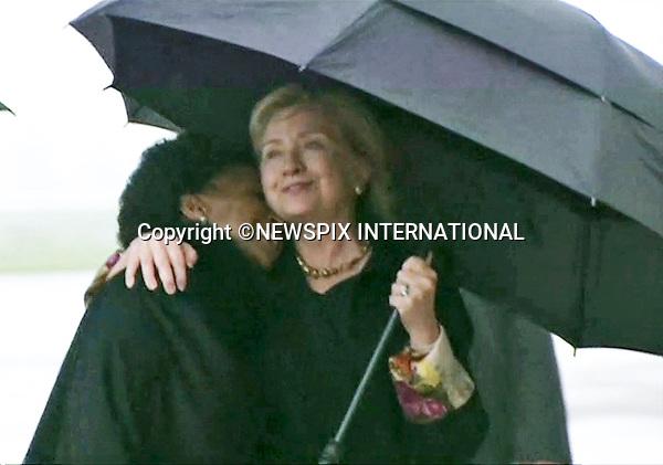HILARY CLINTON<br /> NELSON MANDELA MEMORIAL<br /> The nation mourns Nelson Rolihlahla Mandela Memorial Service, FNB Stadium, Johannesburg, South Africa<br /> Mandatory Credit Photo: &copy;NEWSPIX INTERNATIONAL<br /> <br /> **ALL FEES PAYABLE TO: &quot;NEWSPIX INTERNATIONAL&quot;**<br /> <br /> IMMEDIATE CONFIRMATION OF USAGE REQUIRED:<br /> Newspix International, 31 Chinnery Hill, Bishop's Stortford, ENGLAND CM23 3PS<br /> Tel:+441279 324672  ; Fax: +441279656877<br /> Mobile:  07775681153<br /> e-mail: info@newspixinternational.co.uk
