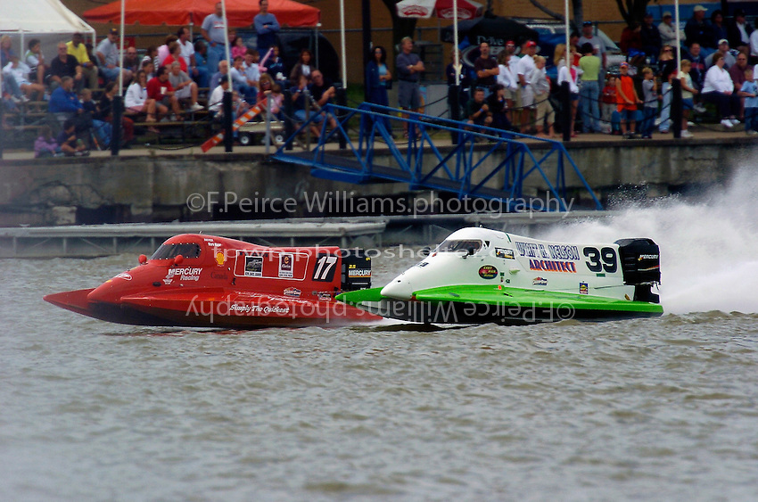 Mark Major and Wyatt Nelson (#39) race down the front chute.