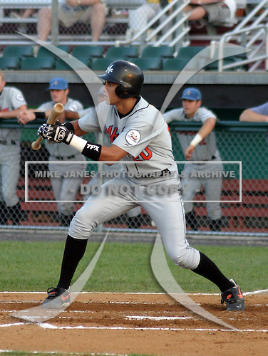 August 16, 2003:  Nick Markakis of the Aberdeen Ironbirds, Class-A affiliate of the Baltimore Orioles, during a game at Falcon Park in Auburn, NY.  Photo by:  Mike Janes/Four Seam Images