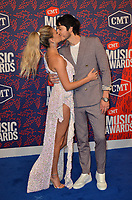 NASHVILLE, TN - JUNE 5: Kelsea Ballerini and Morgan Evans attend the 2019 CMT Music Awards at Bridgestone Arena on June 5, 2019 in Nashville, Tennessee. (Photo by Tonya Wise/PictureGroup)