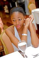 Destination Wedding Photos of Eboni Murray and Antonio Martez, on the island of Jamaica, at the RIU Resort.