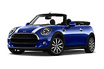 Stock pictures of low aggressive front three quarter view of a 2018 Mini Mini Chilli 2 Door Convertible