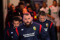 Joe Marler runs out for the 2017 DHL Lions Series rugby union match between the Blues and British & Irish Lions at Eden Park in Auckland, New Zealand on Wednesday, 7 June 2017. Photo: Dave Lintott / lintottphoto.co.nz