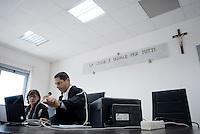 L'Aquila. la seconda udienza del processo alla commissione grandi rischi. 1°ottobre 2011. Il giudice Marco Billi.