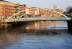 James Joyce bridge crossing River Liffey, city of Dublin, Ireland, Irish Republic