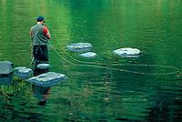 Fly fishing, Housatonic River, Cornwall, CT